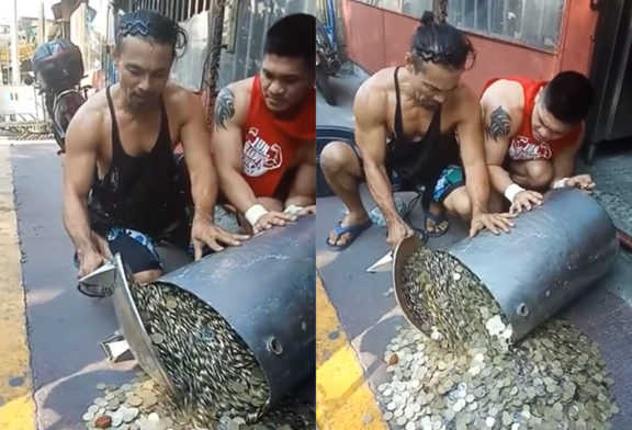 This water heater belonged to a beggar and is opened after his death.  / Wiki Hoax – 0488